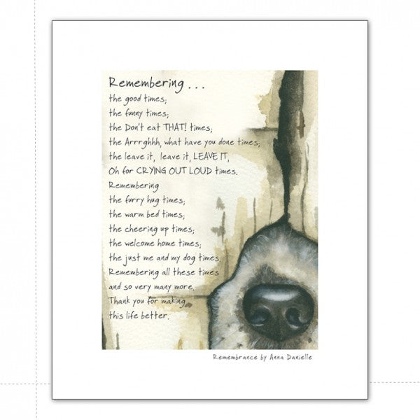 A4 Art Print - Dog Remembrance - Wild Atlantic Living