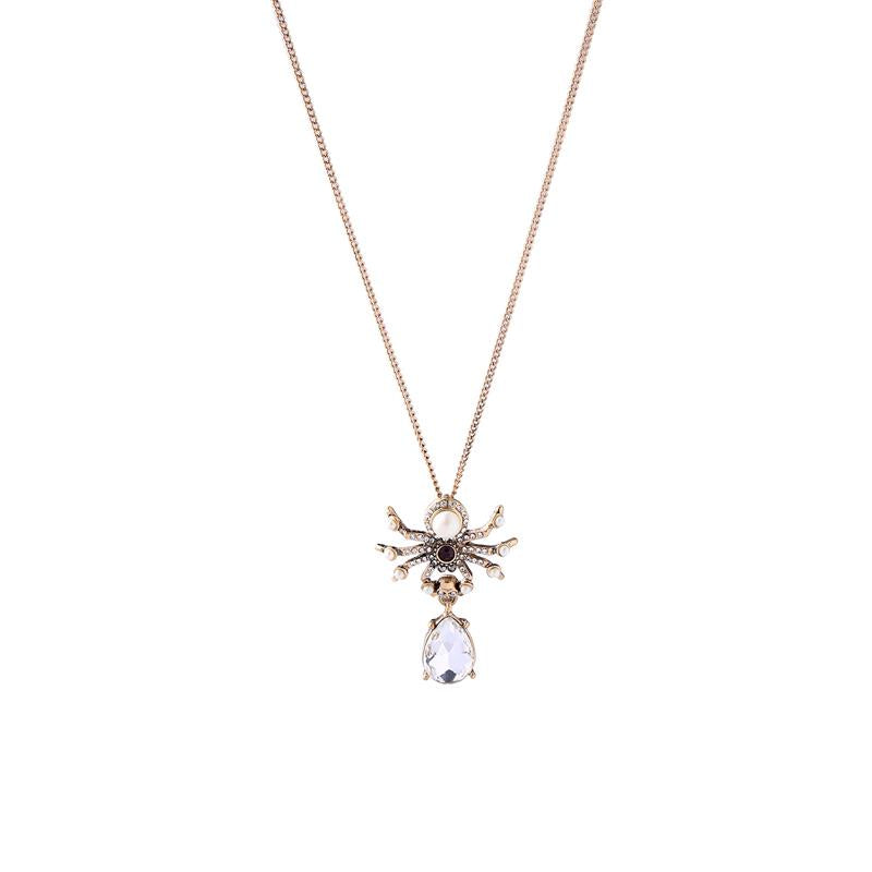 Spider Necklace Gold - Wild Atlantic Living