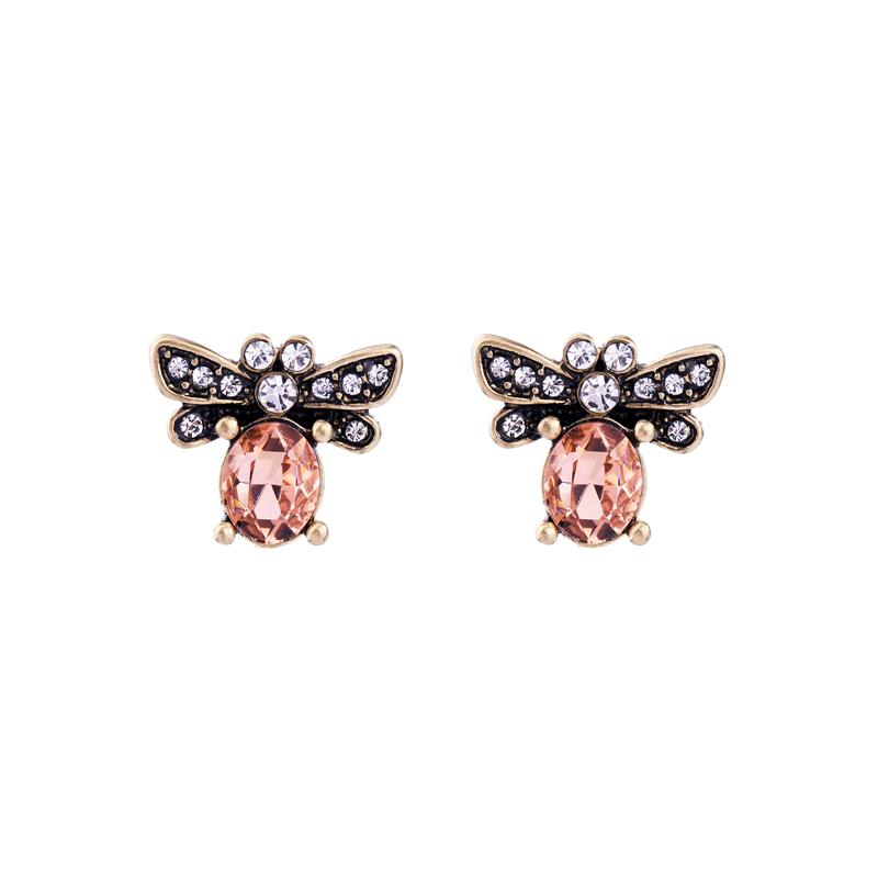 Blush Pink Bee Earrings - Wild Atlantic Living