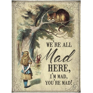 We're Mad - Mini Metal Sign - Wild Atlantic Living