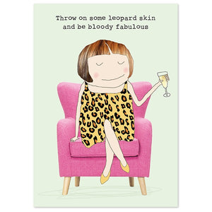Leopard Skin Notepad - Wild Atlantic Living