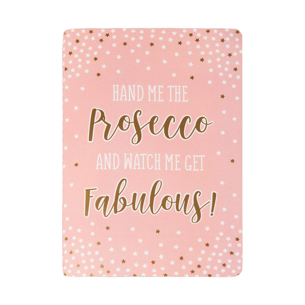 Fabulous Pink Prosecco Party A5 Notebook - Wild Atlantic Living