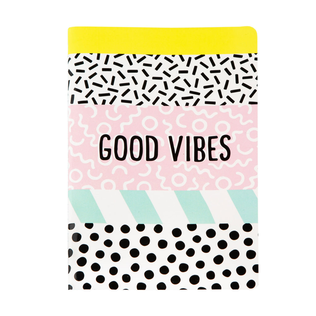Memphis Modern Good Vibes A5 Notebook - Wild Atlantic Living