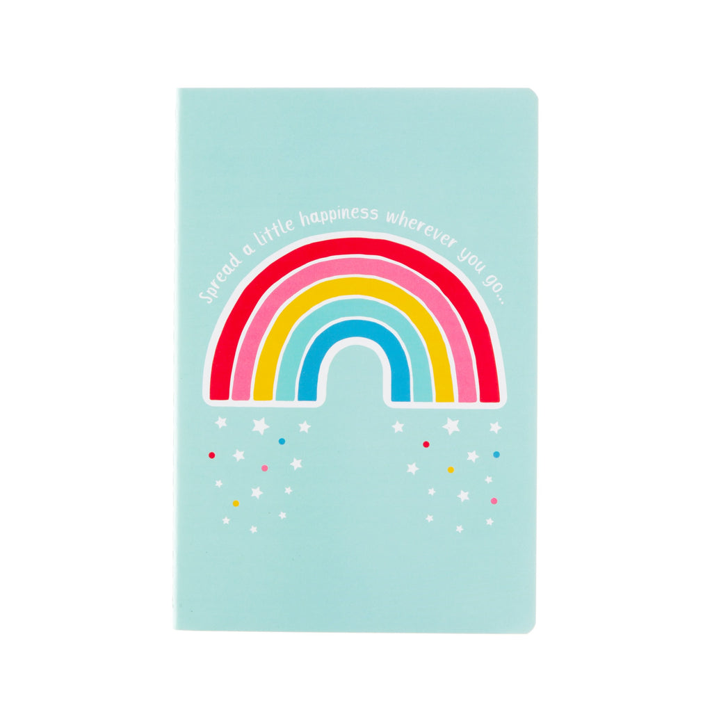 Chasing Rainbows Spread Happiness A5 Notebook - Wild Atlantic Living