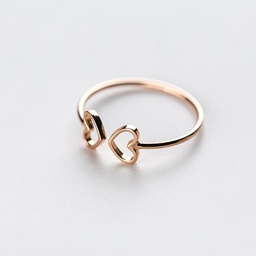 Small Open Front Rose Gold Heart Ring - Wild Atlantic Living