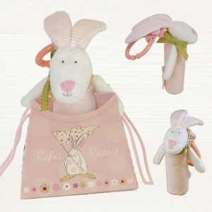 Baby Toy-Squeezy Rufus & bag/Pink - Wild Atlantic Living