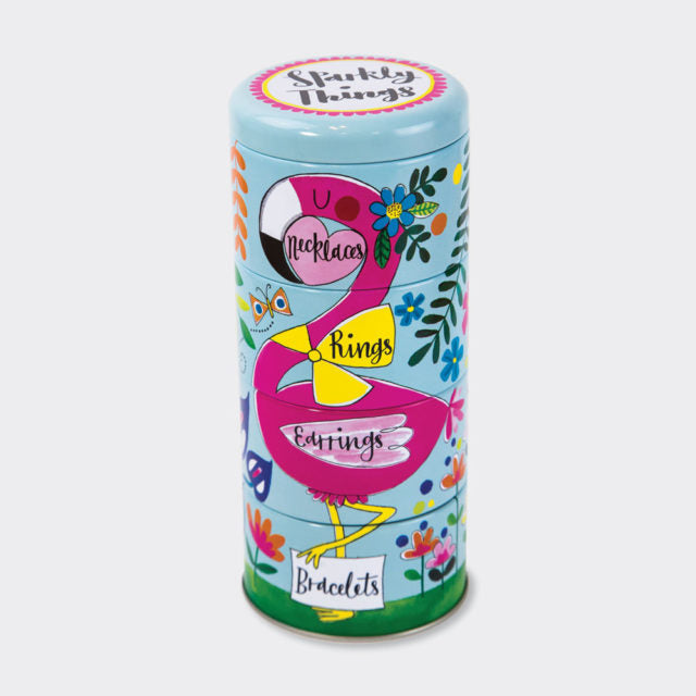 Stacking Tins Keep Sparkly Things/Flamingo - Wild Atlantic Living
