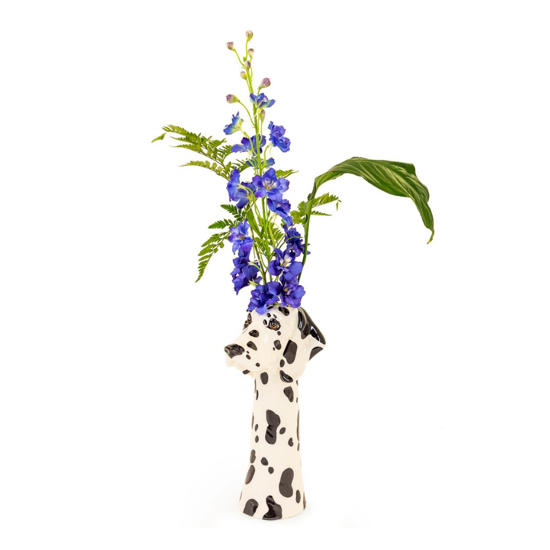 Ceramic Dalmation Head Vase/planter