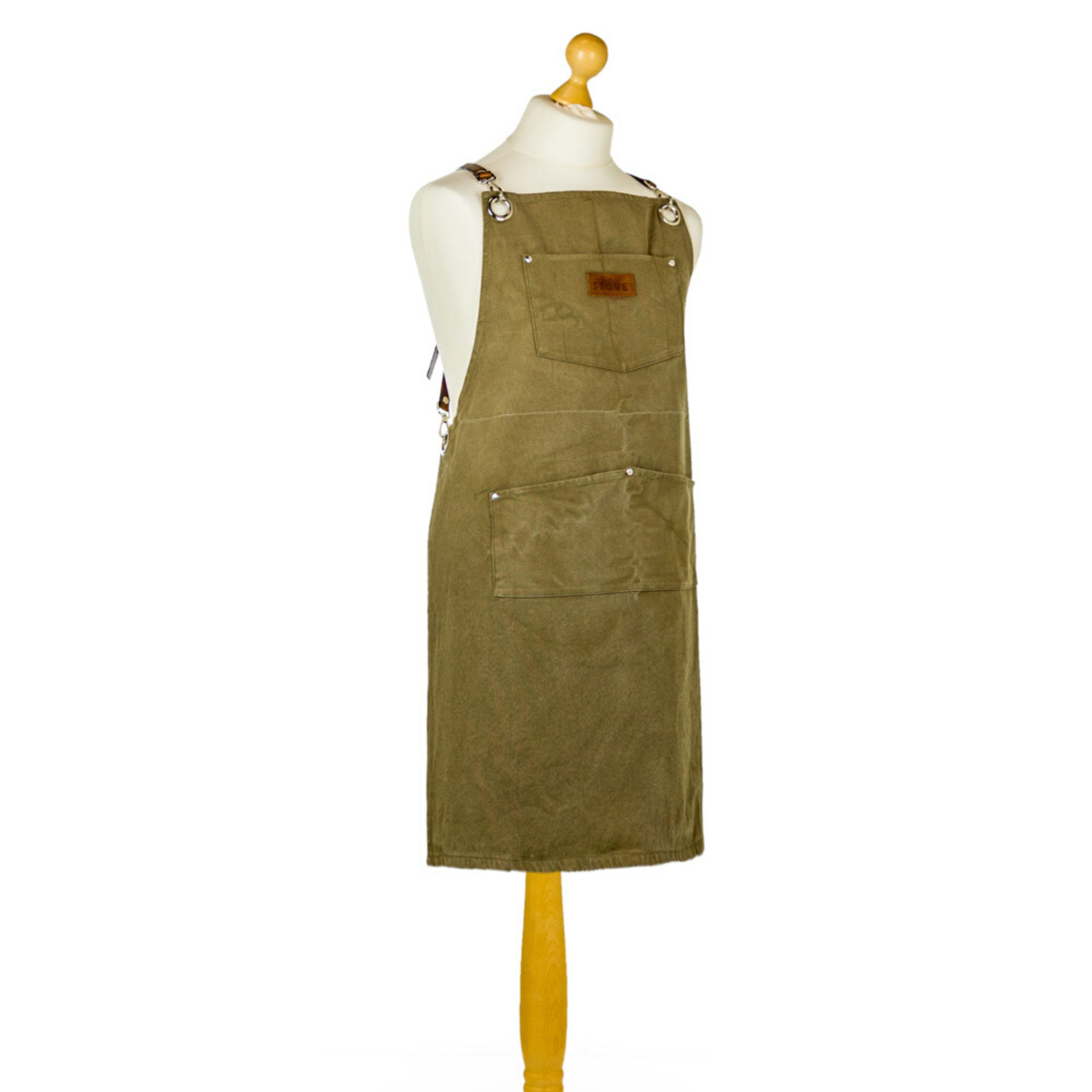 "Artisan Canvas ""Slave to the Stove"" Apron with Leather Straps - Wild Atlantic Living"