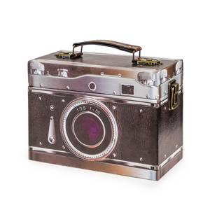 Black Retro Camera Storage Box - Wild Atlantic Living