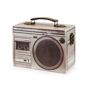 Grey Retro Stereo Storage Box - Wild Atlantic Living