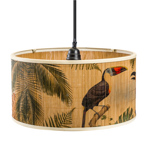 Natural Bamboo Pendant with Toucan Detail - Wild Atlantic Living