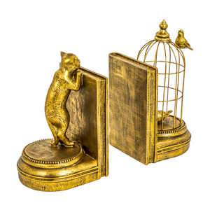 Curious Cat Pair of Bookends - Wild Atlantic Living