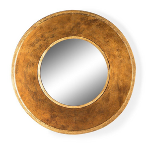 Deep Framed Gold Round Metal Wall Mirror - Wild Atlantic Living