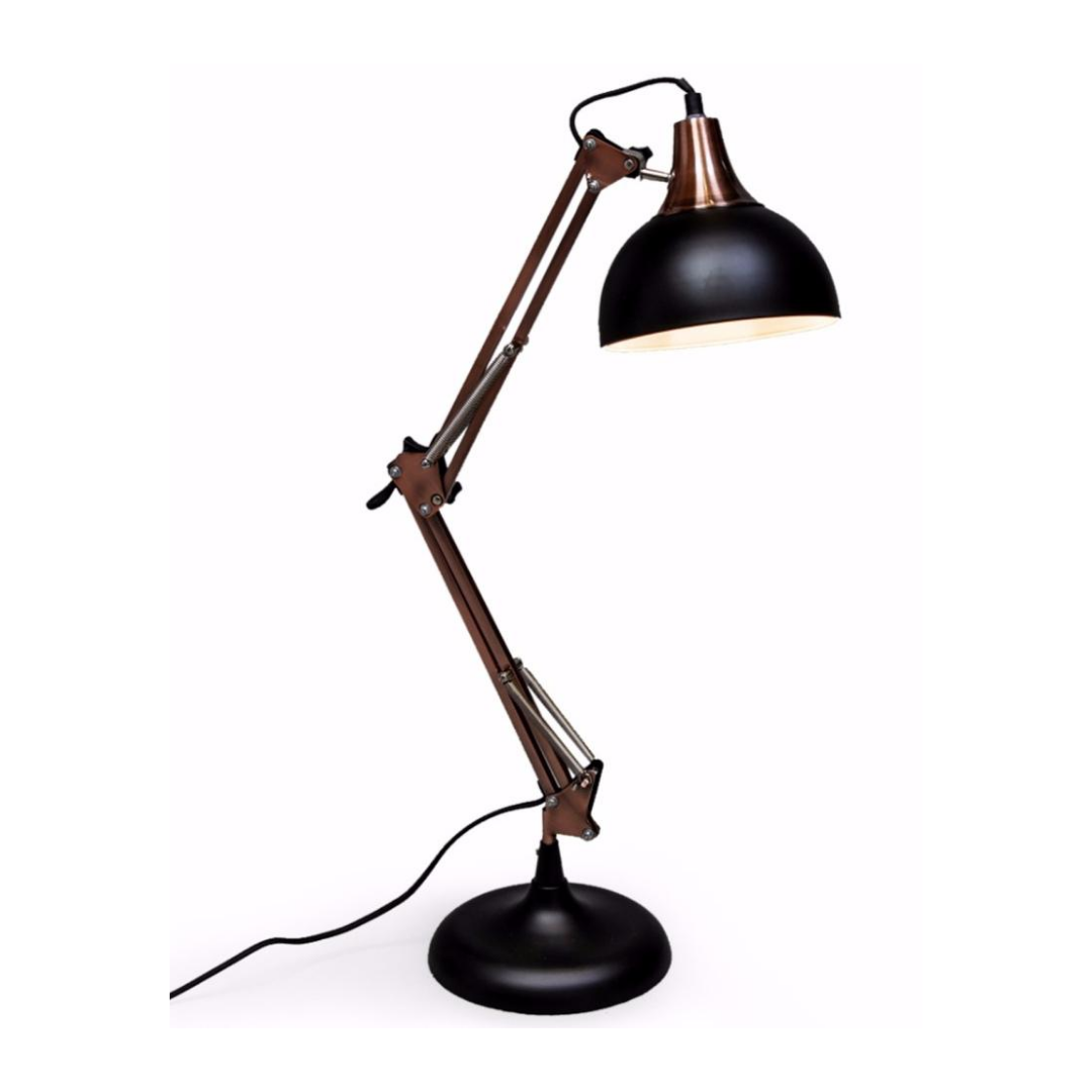 Matte Black / Vintage Copper Desk Lamp