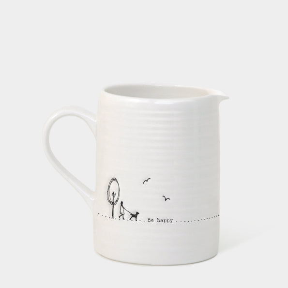 Be Happy- Small Porcelain Milk Jug - Wild Atlantic Living