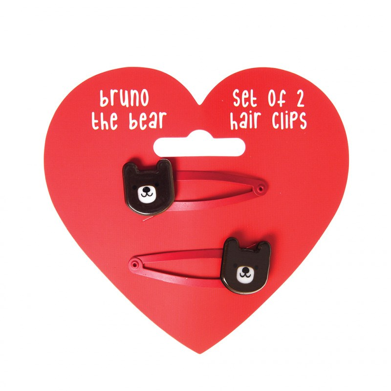 BRUNO THE BEAR HAIRCLIPS (SET OF 2) - Wild Atlantic Living