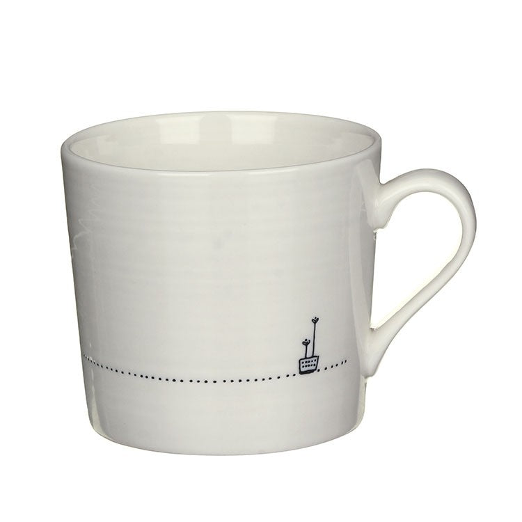 A Brew - Wobbly Porcelain Mug - Wild Atlantic Living