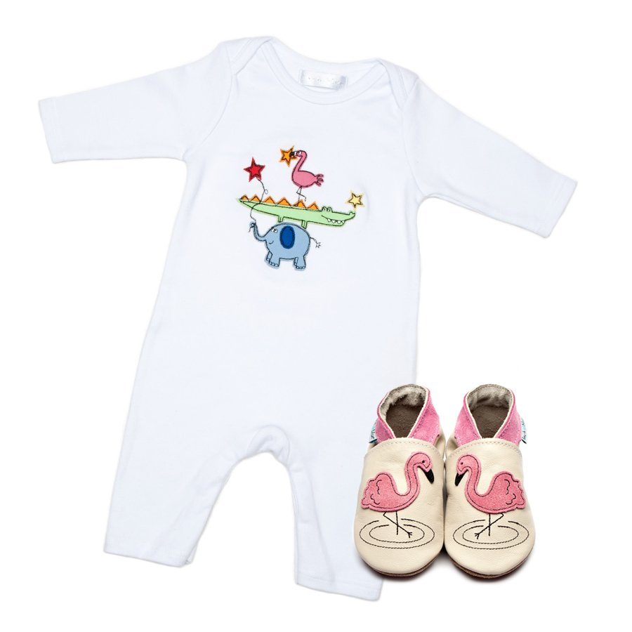 Flamingo Babygrow & Shoes Giftset - Wild Atlantic Living