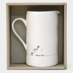 Happy Days- Large Porcelain Milk Jug - Wild Atlantic Living