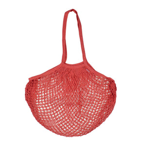Cotton mesh bag- coral