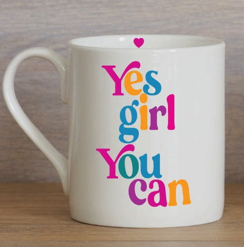 Yes Girl You Can Large Mug