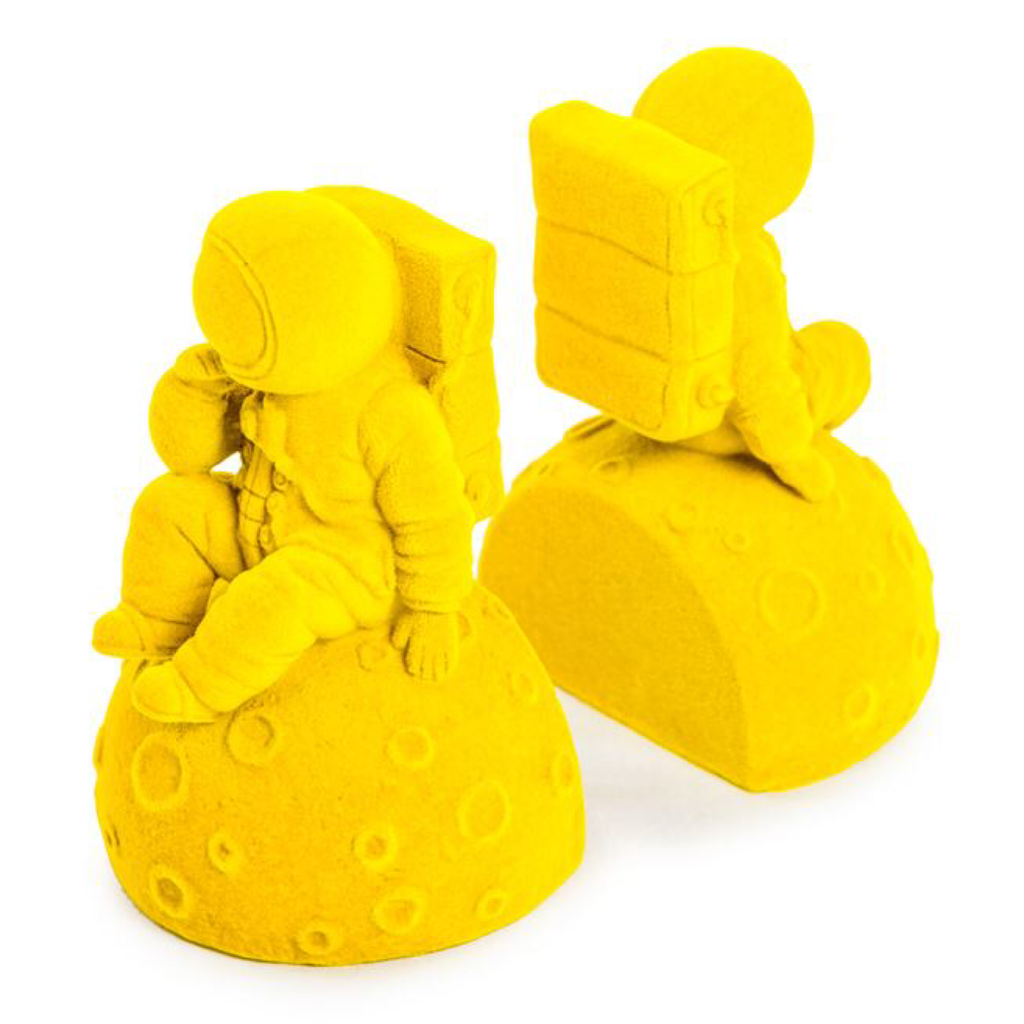 Bright Yellow Pair of Astronaut Bookends - Wild Atlantic Living