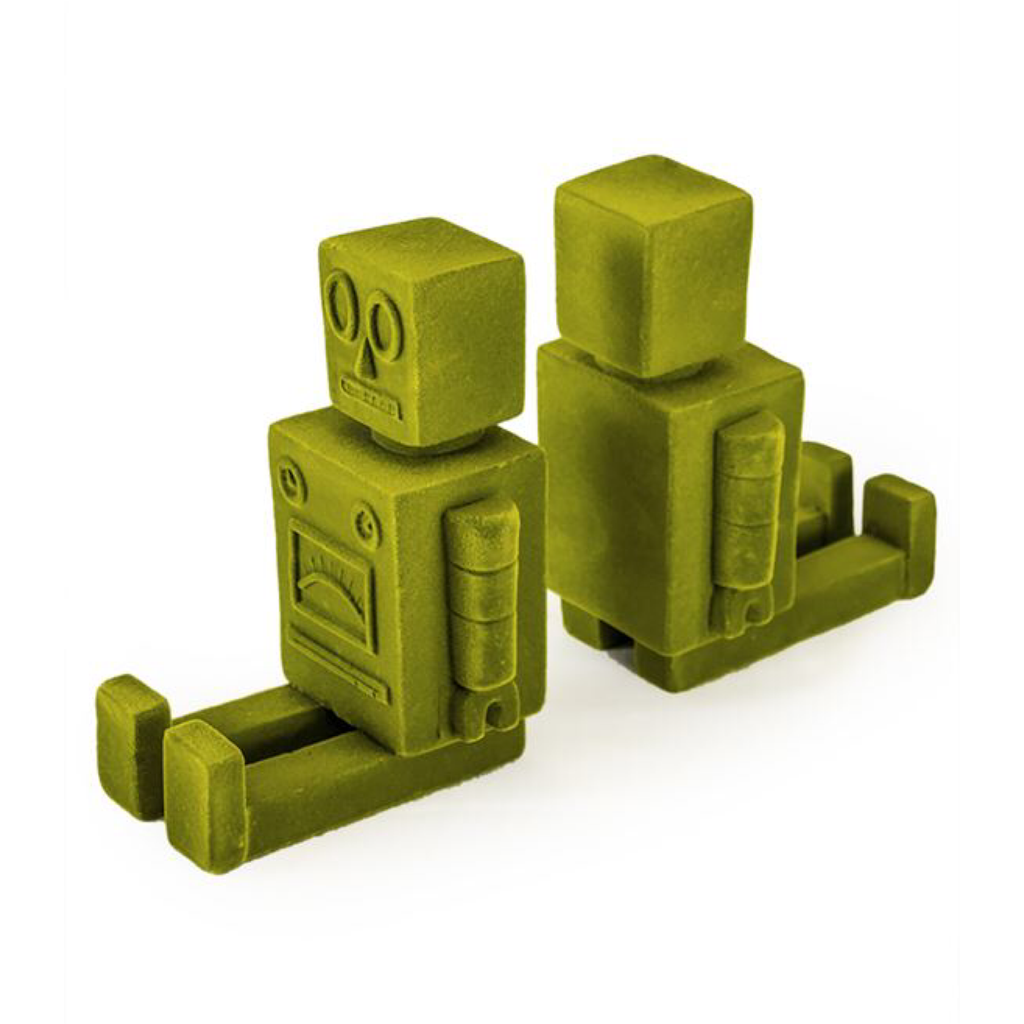 Bright Green Pair of Robot Bookends - Wild Atlantic Living