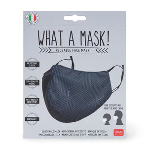 What a Mask! - Fabric mask (geometric)