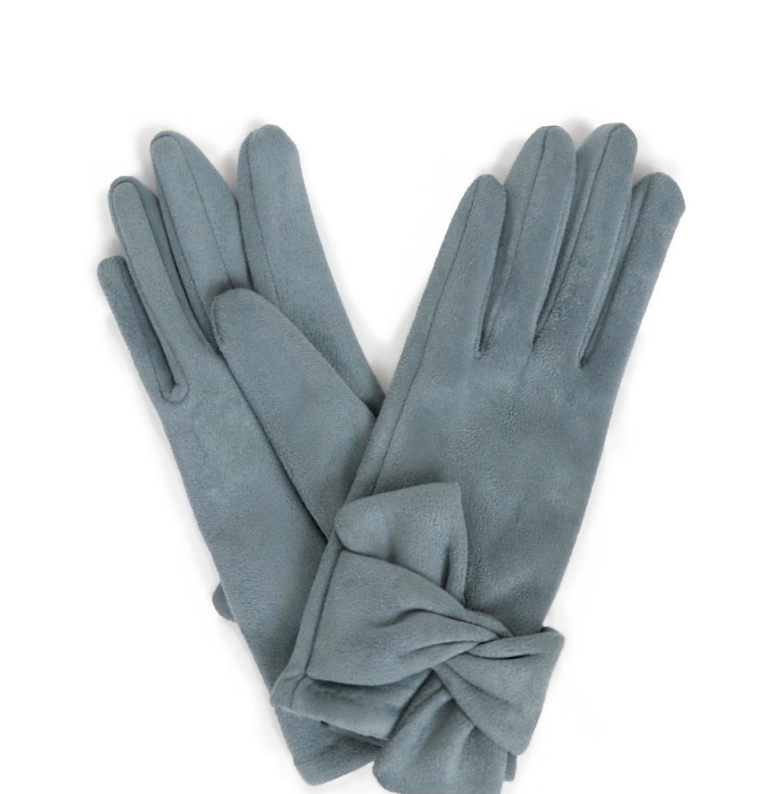 Henrietta Faux Suede Gloves- denim