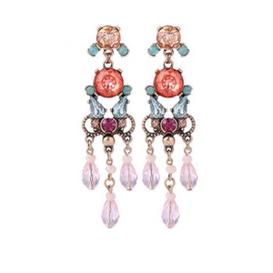 Michelle Earrings Pink - Wild Atlantic Living