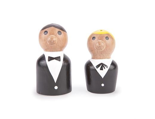 At your service salt and pepper shaker