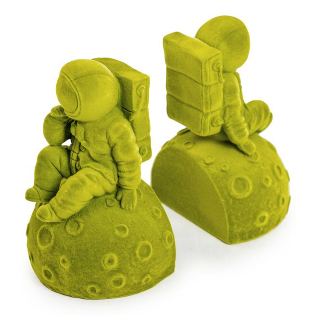 Bright Green Pair of Astronaut Bookends - Wild Atlantic Living