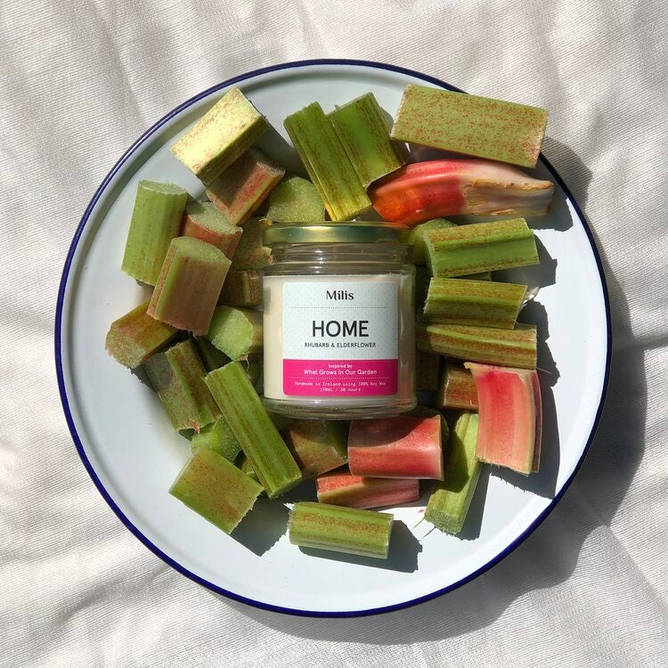 HOME Rhubarb & Elderflower Candle