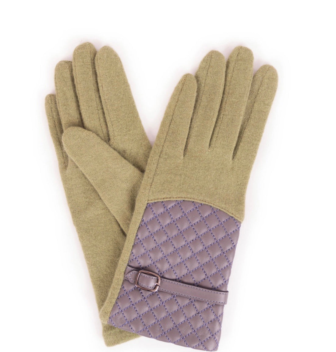 Lizzy wool gloves pea green