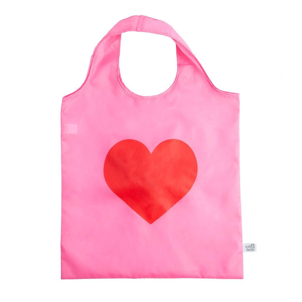 Love Heart Foldable Shopping Bag - Wild Atlantic Living