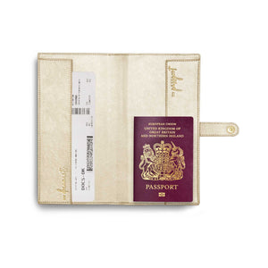 Travel Wallet | Live, Love, Adventure | Metallic Champagne - Wild Atlantic Living