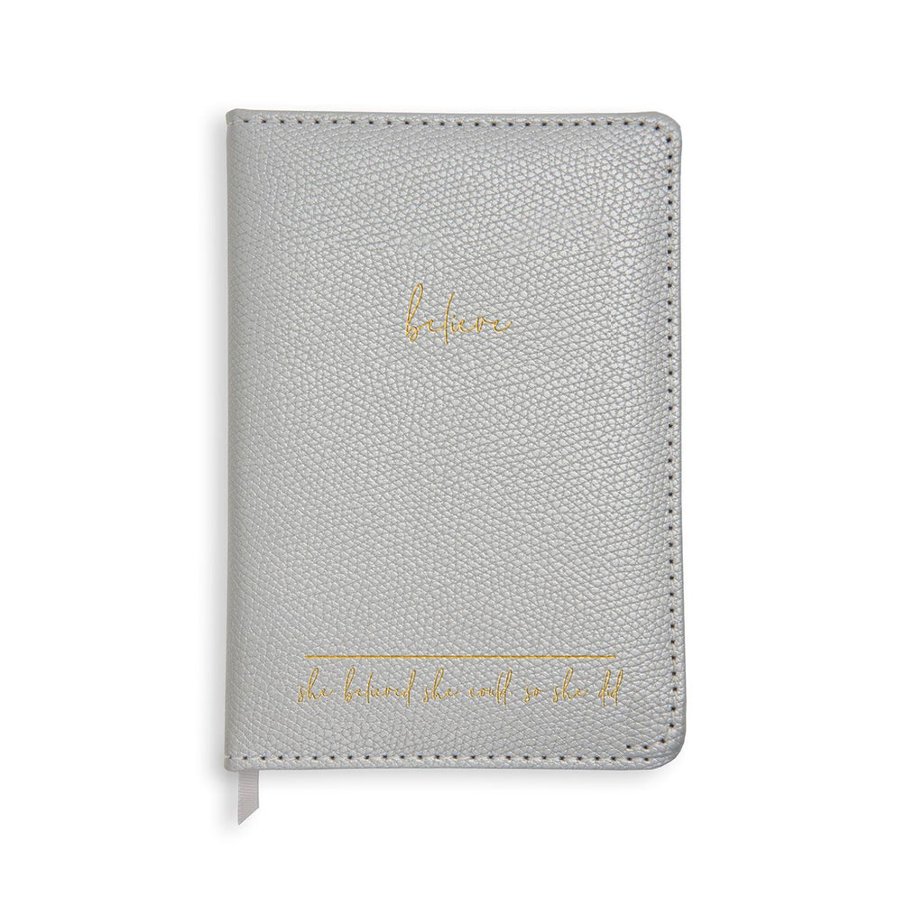 A5 Leather Notebook - She Believed She Could So She Did - Wild Atlantic Living