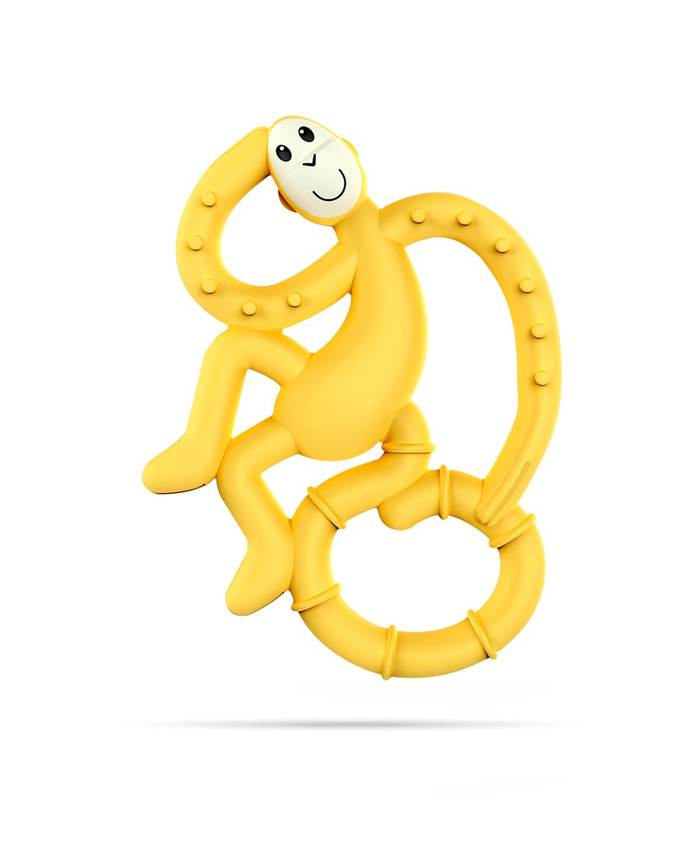 Yellow Mini Monkey Teether - Wild Atlantic Living