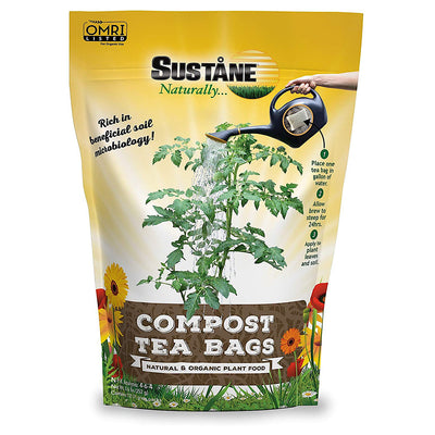 Sustane Compost Tea Bags - Waste Not Dots