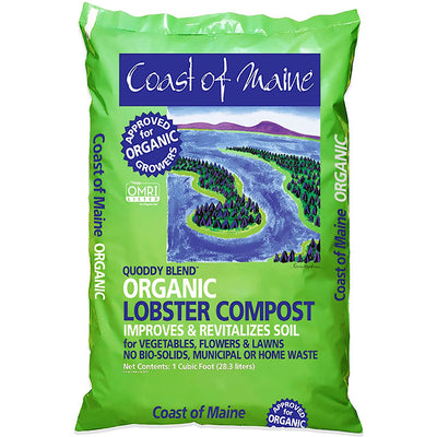 COAST OF MAINE Q1 Lobster Compost Soil Conditioner, 1 Cubic Feet