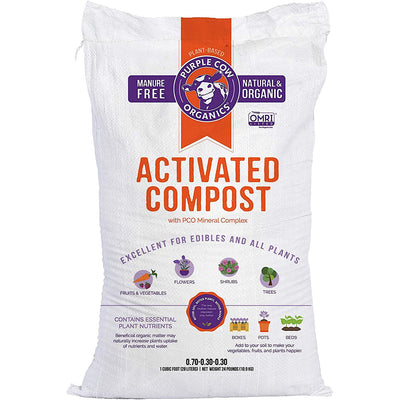 Purple Cow Organics Activated Compost, 1 CF Bag