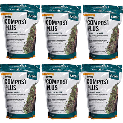 Safer 3050-6 Brand 2 lb. Compost Plus-6 Pack Ringer, Green