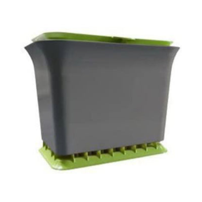 Full Circle Fresh Air Odor-Free Kitchen Compost Bin, Green Slate - Waste Not Dots