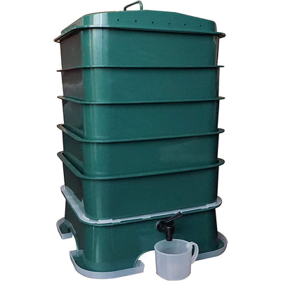 VermiHut Plus 5-Tray Worm Compost Bin - Waste Not Dots