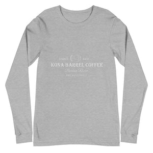 Kona Barrel Coffee - Whiskey Reserve - Unisex Long Sleeve Tee - Kona Coffee - Kona Loft Farms