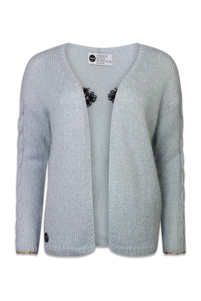 The classic EYE cardigan pale blue