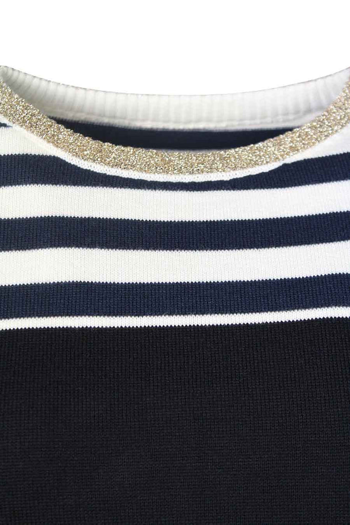 Striped (fake dungarees) jumper