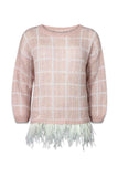 Feather boyfriend jumper soft pink