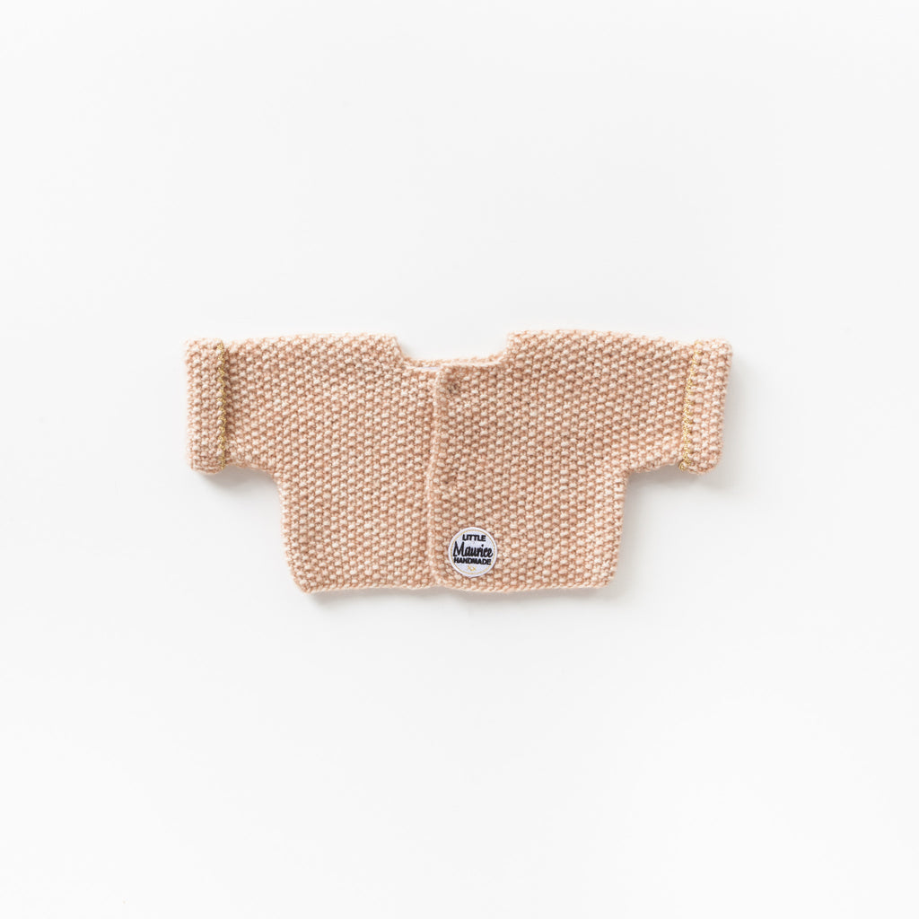 Little Maurice cardigan old rose
